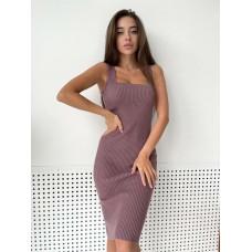 Вязаное трикотажное платье Мили