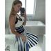Вязаное трикотажное платье Белла