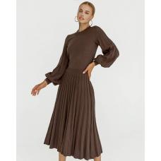 Вязаное трикотажное платье Волан